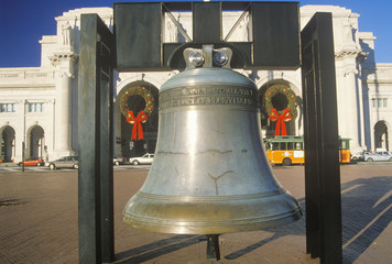 Replica of Liberty Bell, Christmastime, Union Station, Washington, D.C.