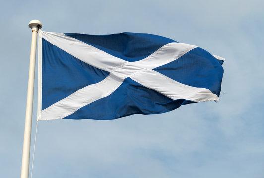 Scottish St. Andrews cross flag.