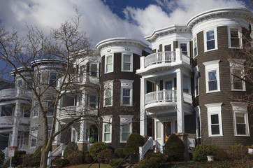 Upscale condos and homes of South Boston, Massachusetts, USA, 03.16.2014