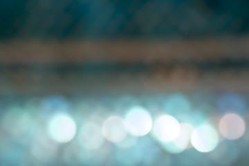 Abstract Christmas light blue bokeh.