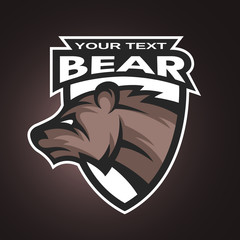 Bear emblem, logo for a sports team.