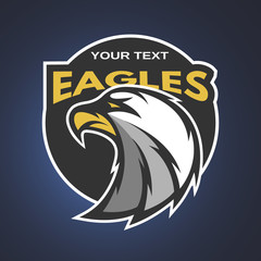 Eagle emblem, logo for a sports team.