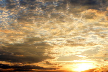 Sunrise cloudy sky background