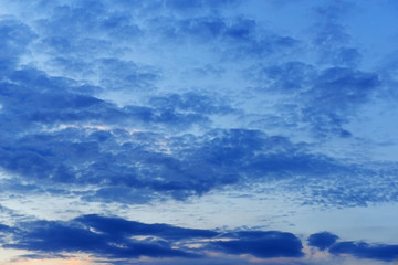 Sunset cloudy sky background