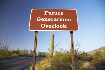 Arizona, Tucson, USA, April 9 2015, Future Generations Overlook, Saguaro National Park West, Arizona