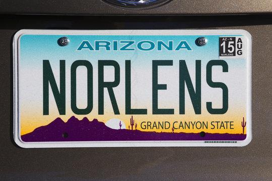 "Arizona, Tucson, USA, vanity license plate says ""New Orleans"""