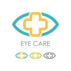 Eye Care Cross Hospital Logo Design - Illustration