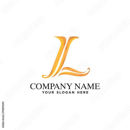 """Classic Initial L Logo Company Elegant Simple"" Stock"