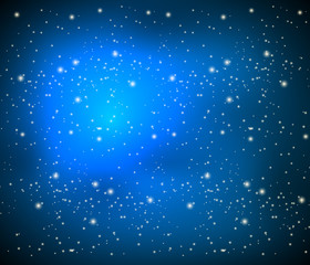 blue background with bright stars