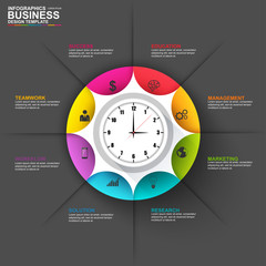 Infographic marketing diagram vector design template