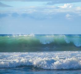 Autocollant pour porte Eau breaking waves