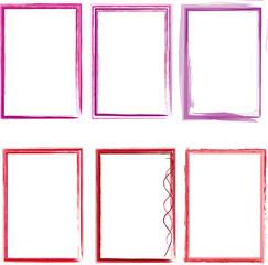 lila roter Rahmen Set
