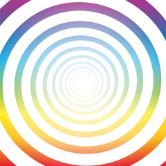 Spiral tunnel, rainbow colors, white shiny center, three-dimensional.