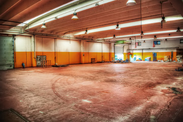 orange warehouse in hdr tone