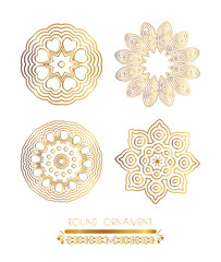 Traditional golden decor on white background.Oriental vector gold pattern. Abstract golden ornament. Vector illustration.