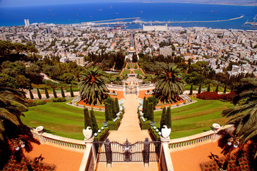 Bahai Gardens in Haifa, Israel.