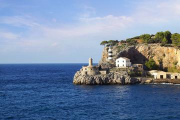 Wall Mural - Lighthouse in Port Soller, Mallorca