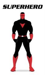 superhero. standing superhero. masked superhero