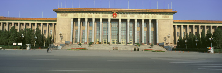 The Great Hall of the People at Tiananmen Square in Beijing in Hebei Province, People's Republic of China