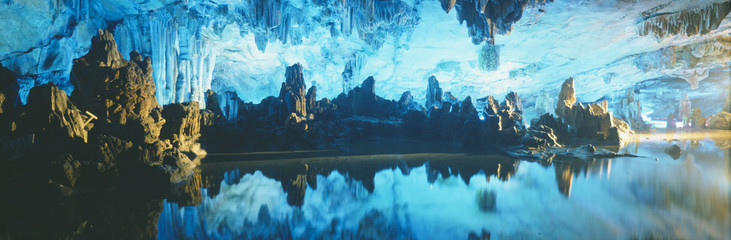 Wall Murals Guilin Reed Flute Cave in Guilin, Guangxi Province, People's Republic of China