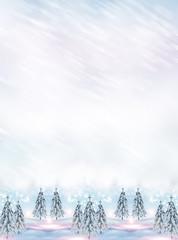 Christmas card. winter Landscape