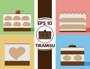 Flat tiramisu collection eps10