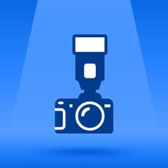 Photo Camera and flash vector illustration