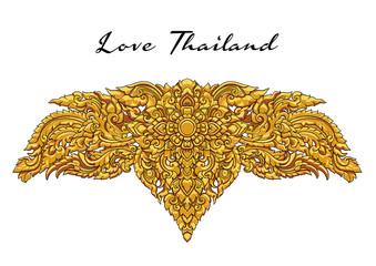 thai floral decorative ornament. illustration