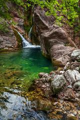 Fragment of little waterfall