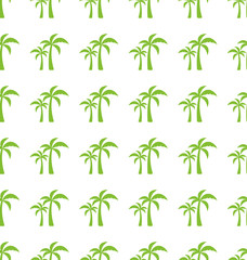 Endless Print Texture with Tropical Palm Trees