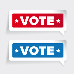 US Vote badge vector