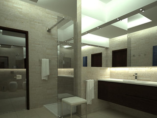render of luxury bathroom