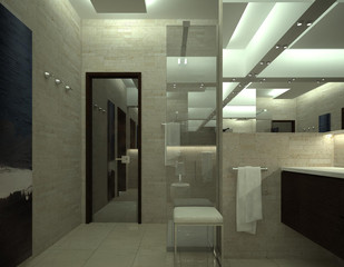 render of luxury toilet