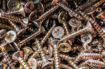 Close Up Of A Collection Of Woodscrews 3