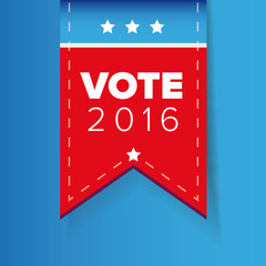 US Vote ribbon vector