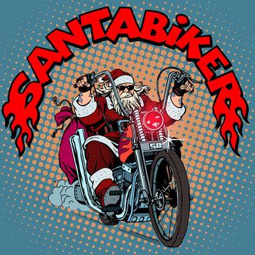 Santa Claus biker motorcycle Christmas gifts