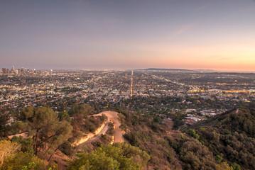 Beautiful aerial view in Los angeles