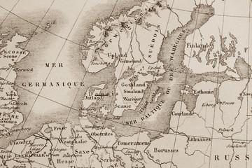 アンティークの世界地図 北欧