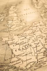 アンティークの世界地図 フランス