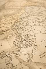 アンティークの世界地図 ヨルダン川西岸地区
