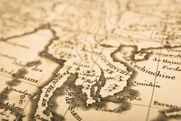 アンティークの世界地図 マレー半島