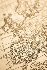 アンティークの世界地図 スペイン