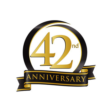 Anniversary Logo Black Gold 42