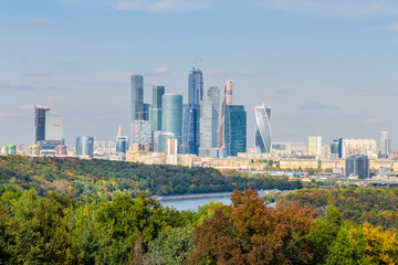 """Moscow business center """"Moscow-city"""", Moscow, Russia."""