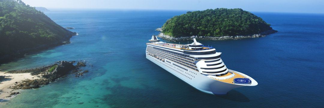 3d Cruise Ship Vacation Holiday Summer Illustration Concept