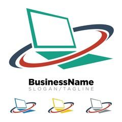 Computer logo icon Vector