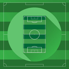 Soccer game field vector illustration