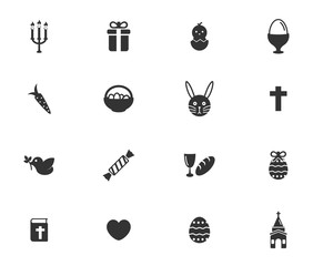 Easter day simply icons