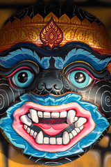 Face mask of Thai god, mythological creature