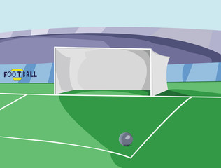 Soccer Goal Box colorful vector illustration